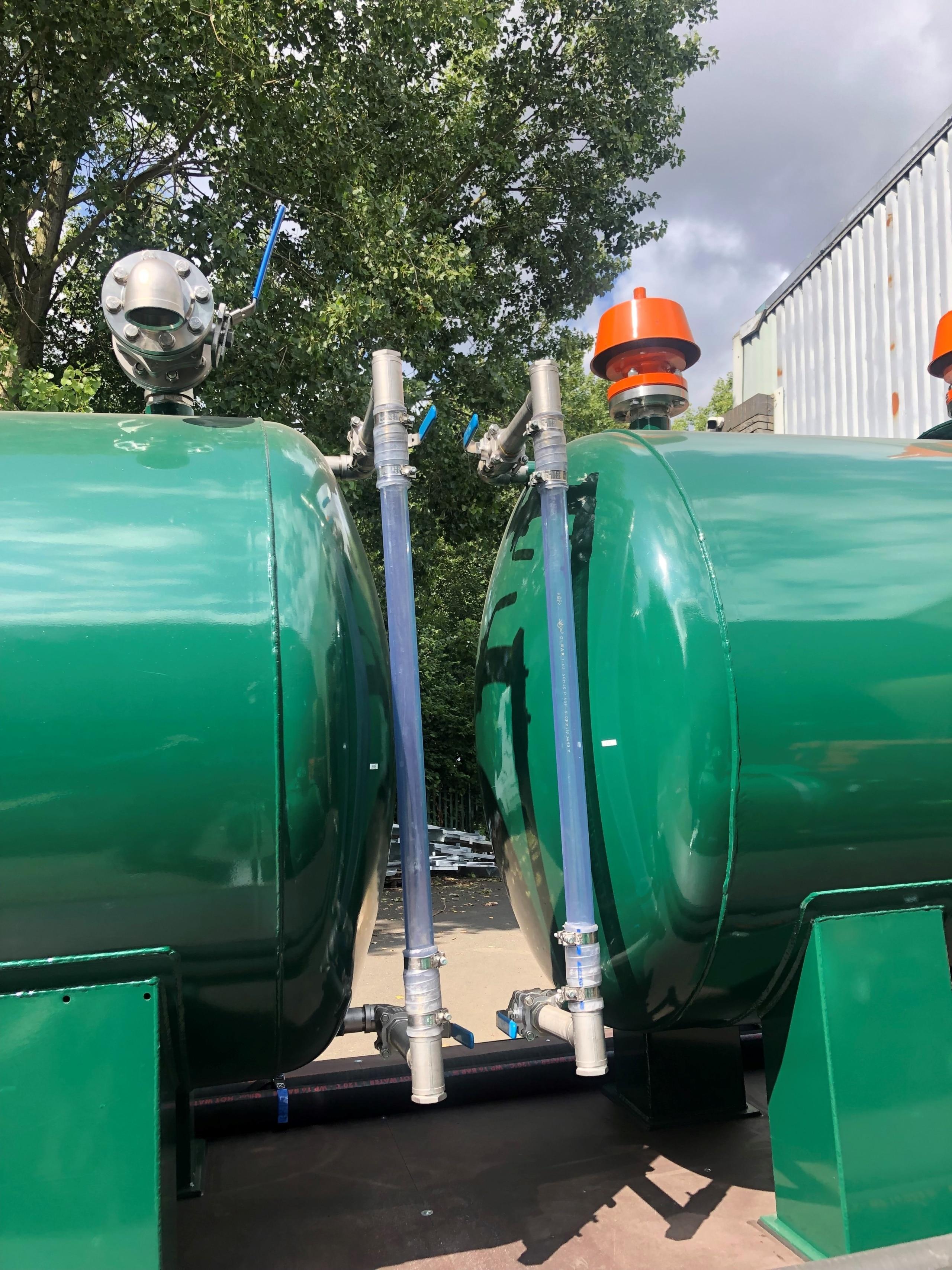 Oil Break Tanks together