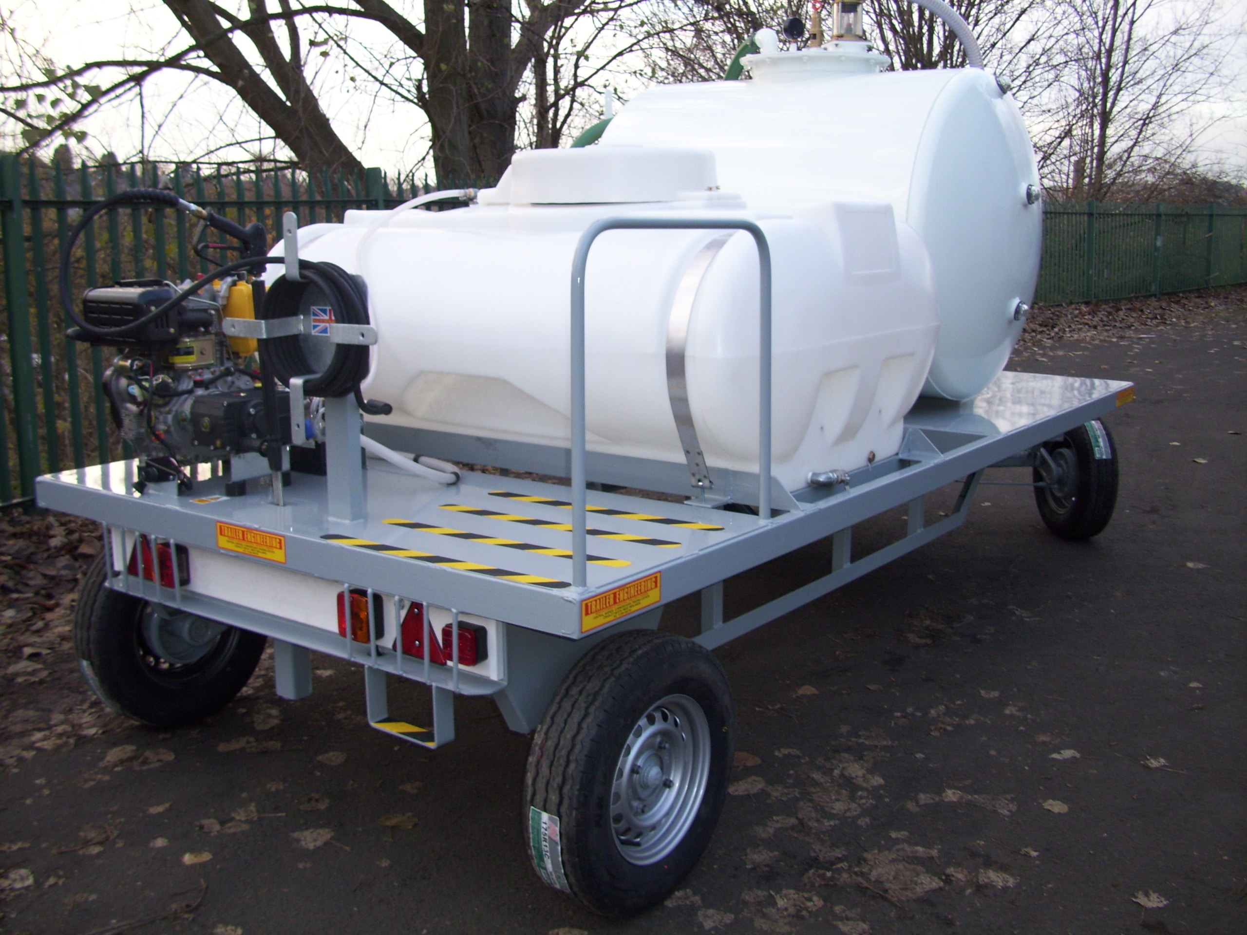 Stansted Vac tank And Pressure Washer Trailer