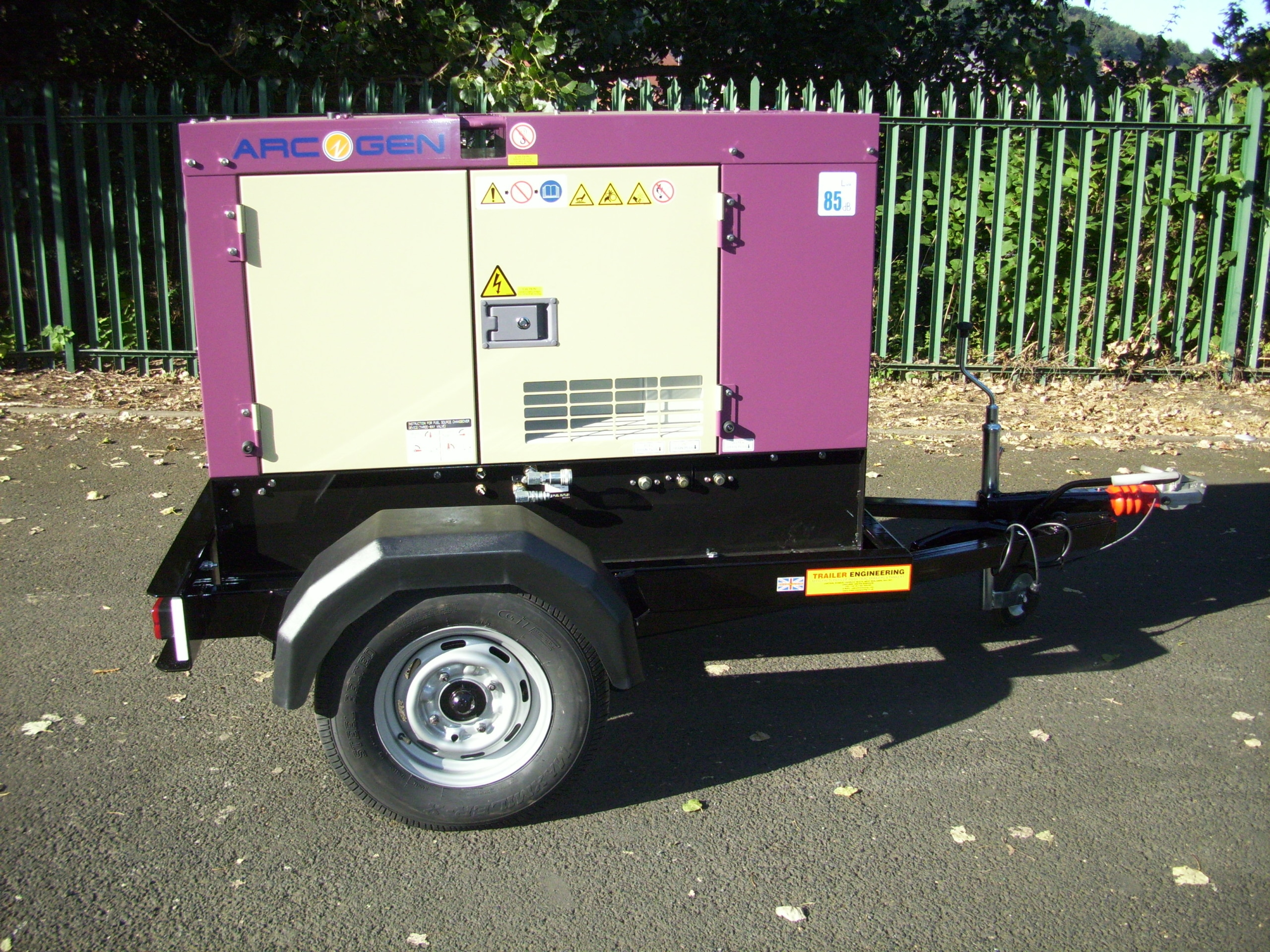 Denyo Arcogen generator trailer