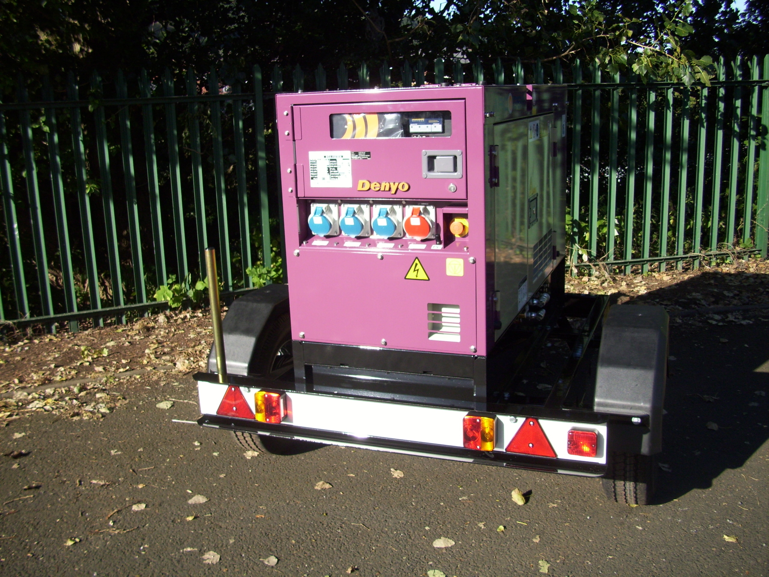 Denyo Arcogen generator single axle trailer