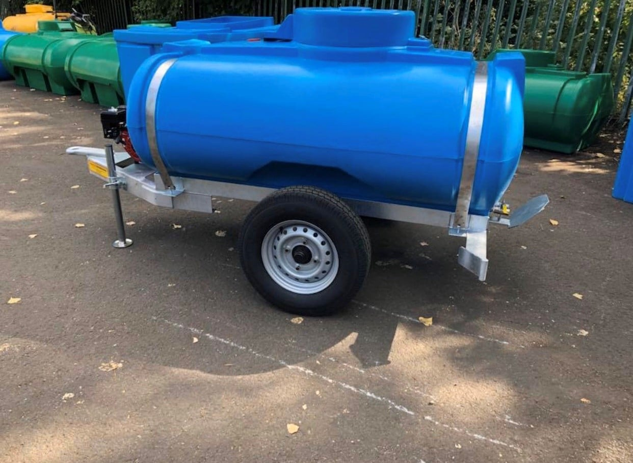 1125 Litre Site Tow Water Bowser With Honda Dust Suppression
