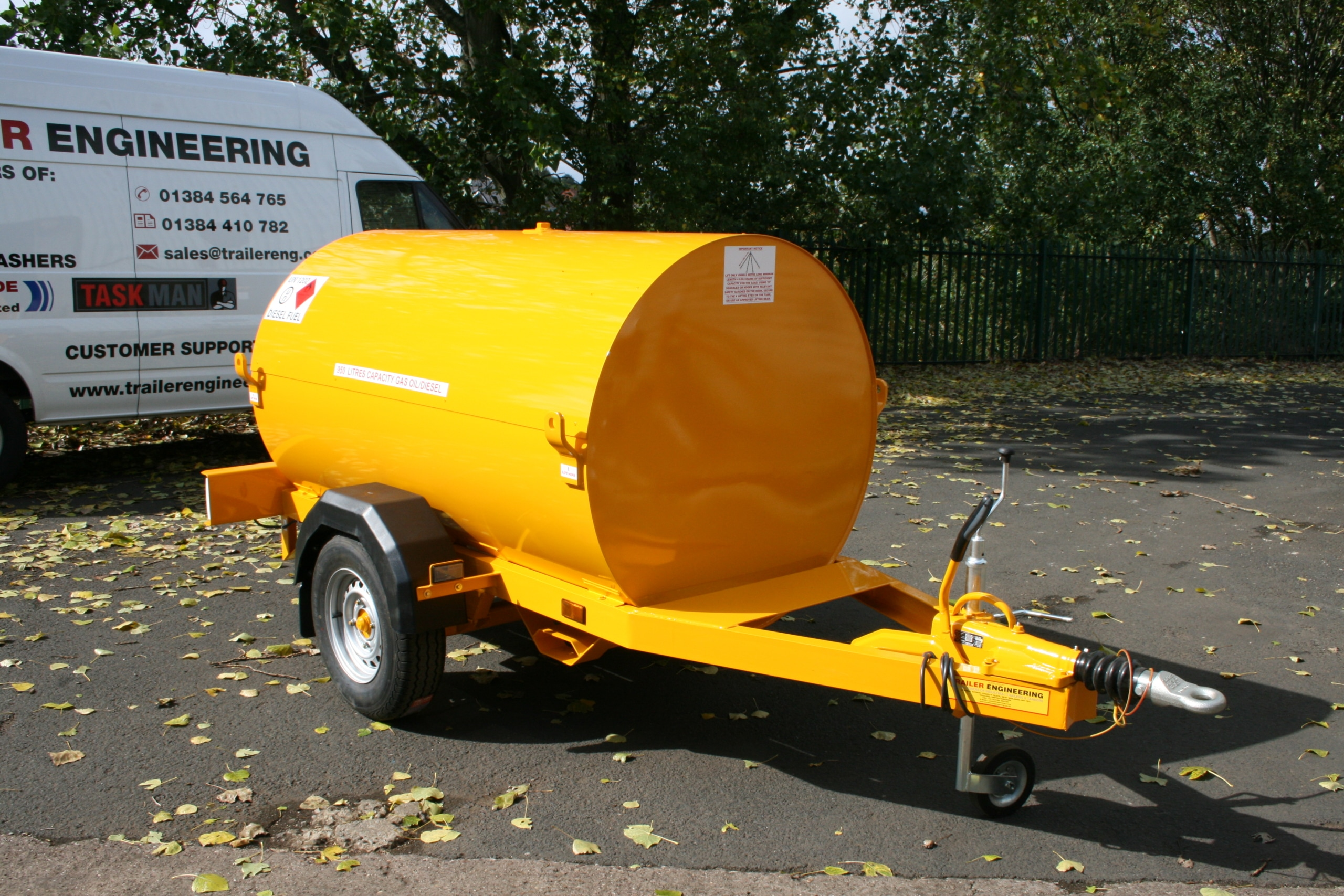 950 Litre Highway Painted chassis