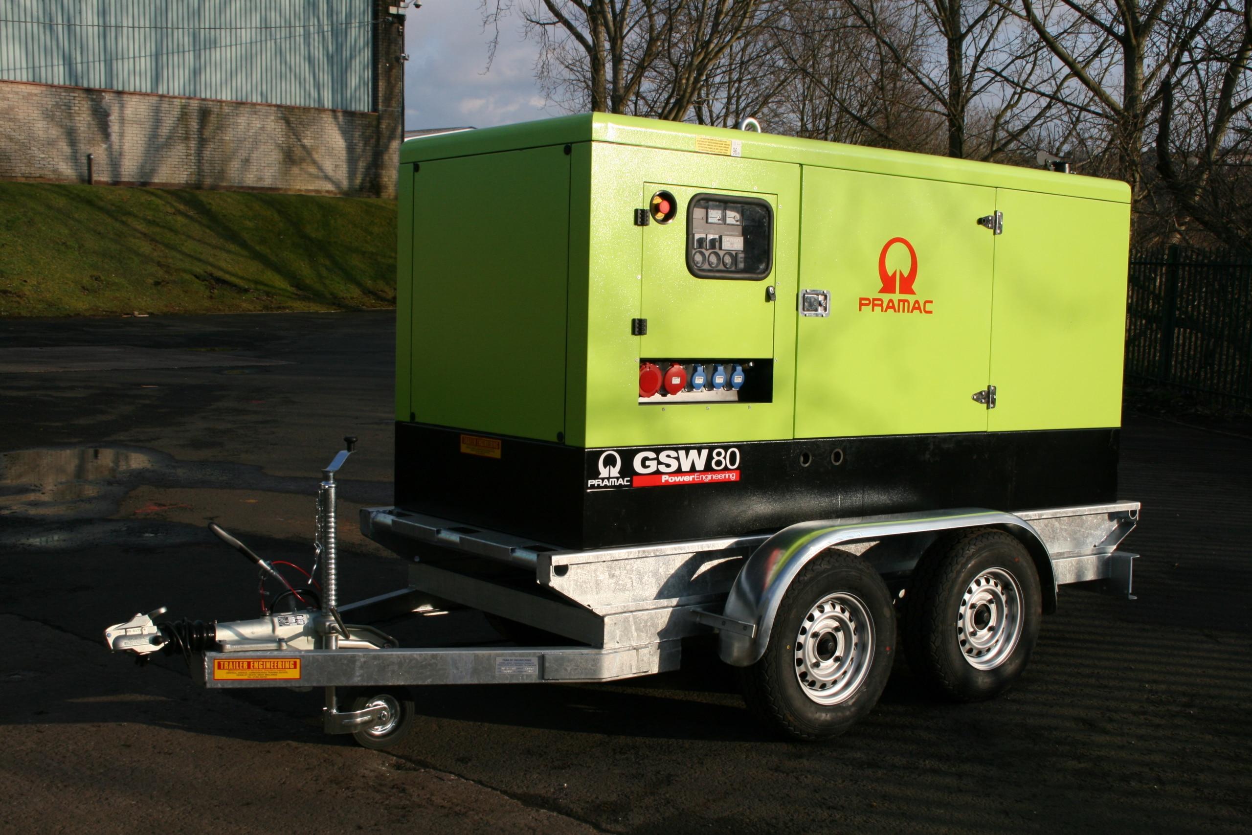 Pramac generator trailer