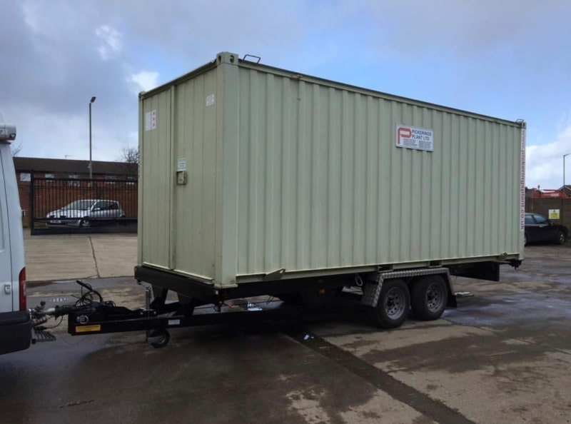 Pickerings planthire highway towable 3500kg container trailer What is a Bowser? Trailer Engineering