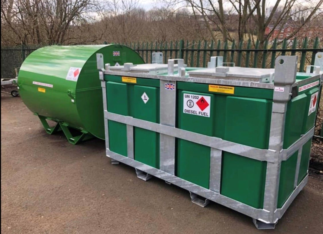 Green 2000 Litre Diesel Fuelcube