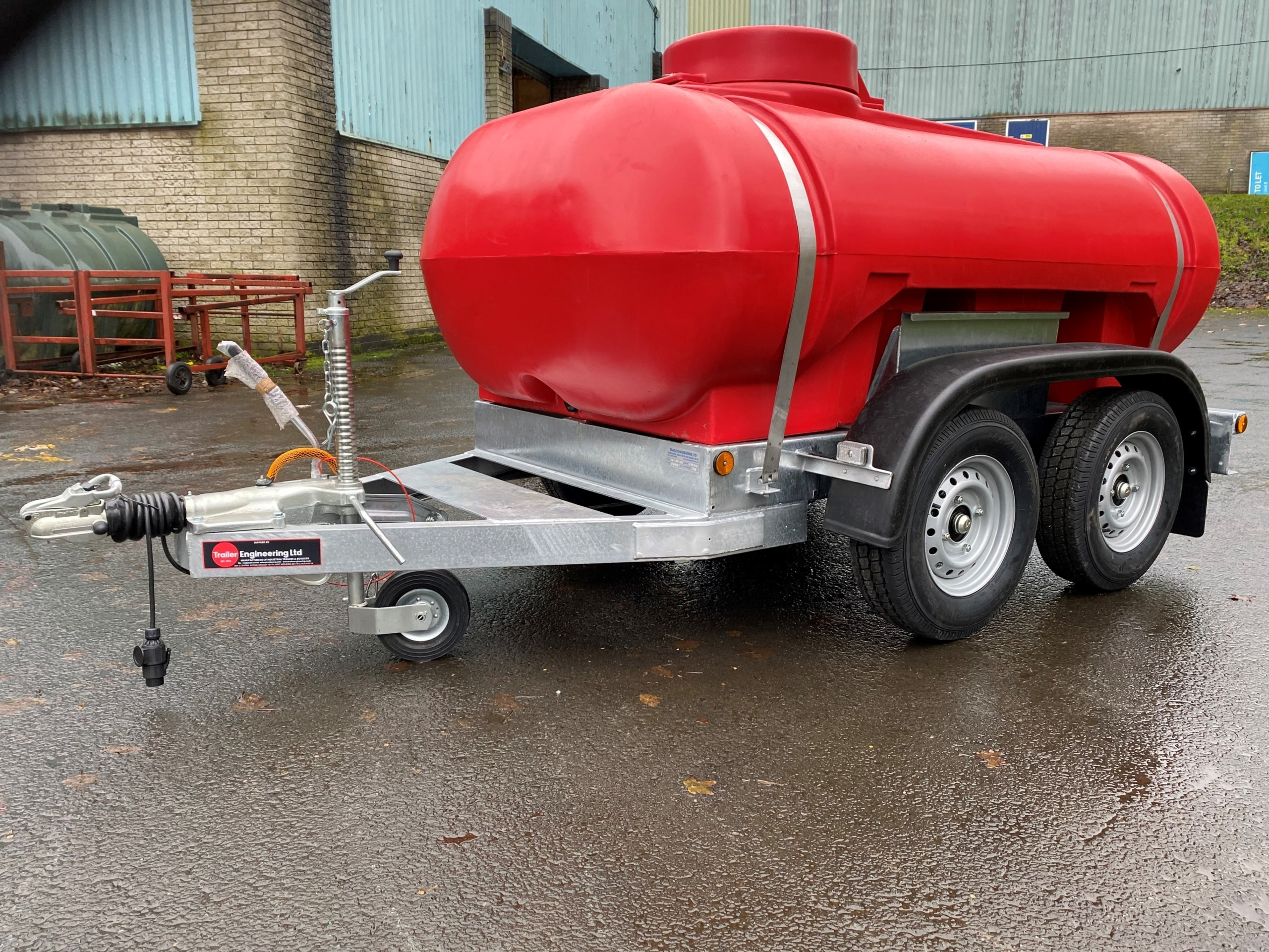 Red Twin Axle Water Trailer