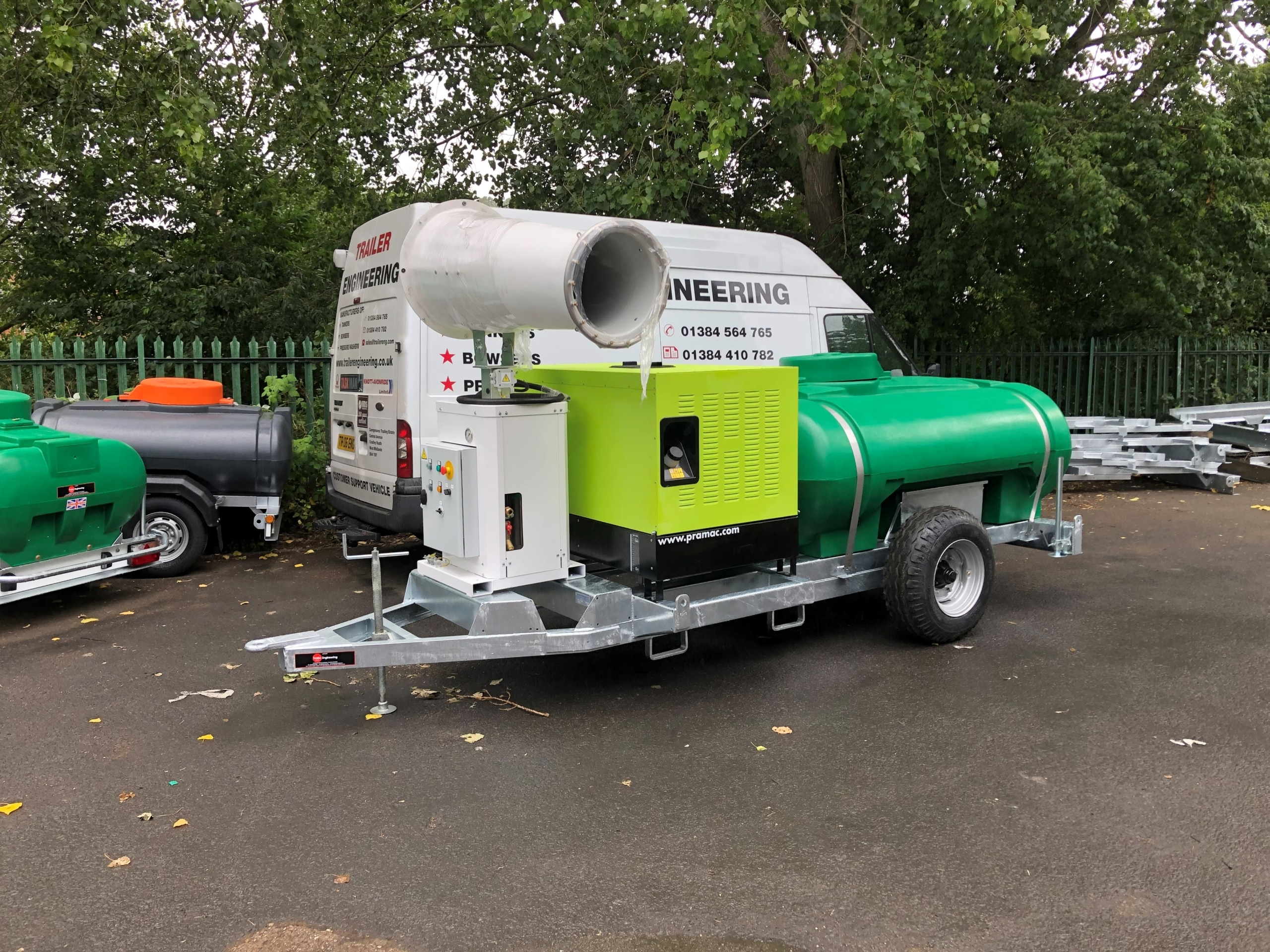 Site Tow Water Bowser With Dust Cannon