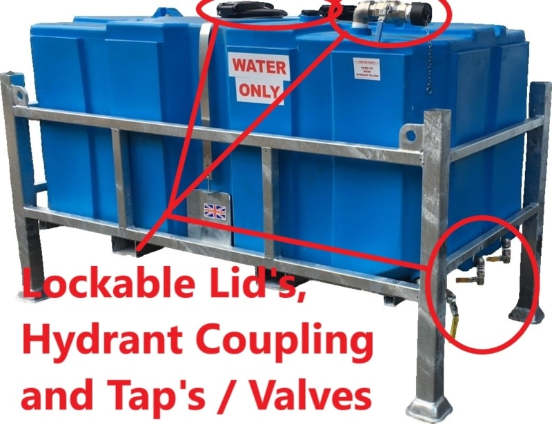 2000 litre stackable drinking Water bowser What is a Bowser? Trailer Engineering