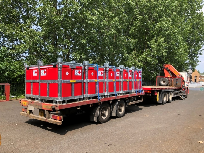 stuart power 7.5 tonne lorry trailer with 950 litre fuelcube polycube Fuel Cube Trailer Engineering